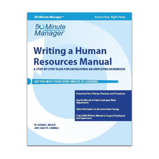 Writing a Human Resources Manual