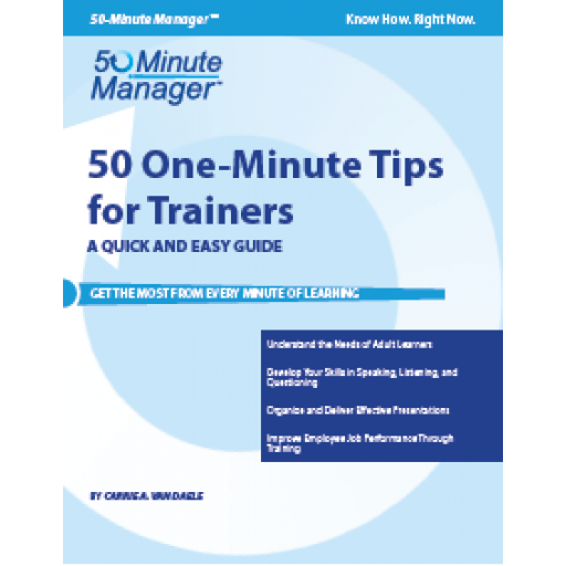 (AXZO) 50 One-Minute Tips for Trainers eBook