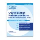 Creating a High Performance Team